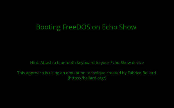 Proof of concept: use APL to boot FreeDOS on an Echo Show