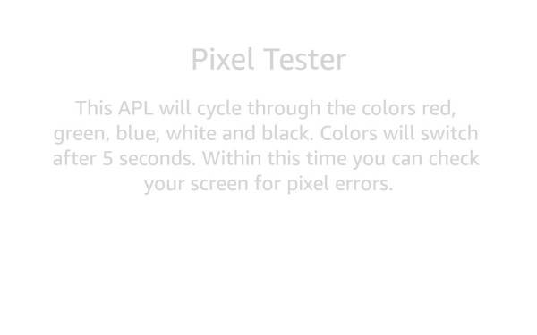 Simple Pixel Tester for Screens