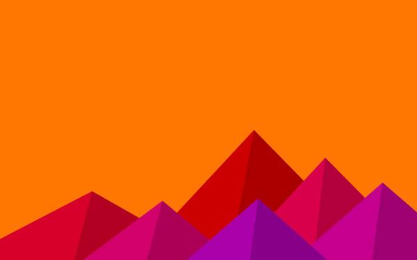 Flat Mountains Background