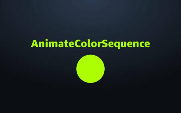 Custom Command: AnimateColorSequence