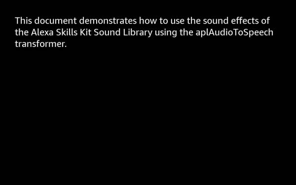 Using sound effects (soundbank://) in an APL document