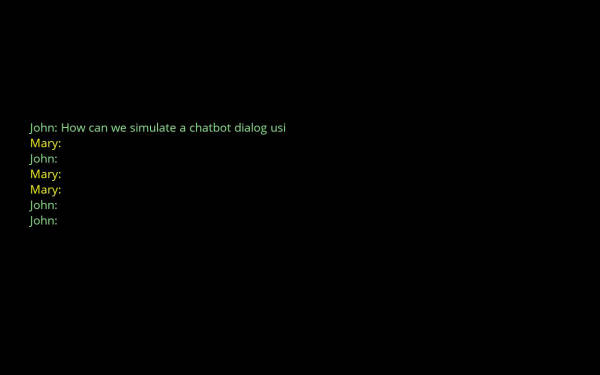 Make animated texts appear as chatbot dialog using a custom style