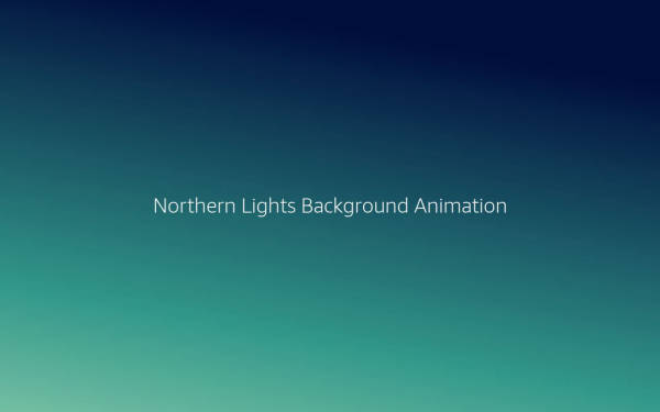Northern Lights Background Animation